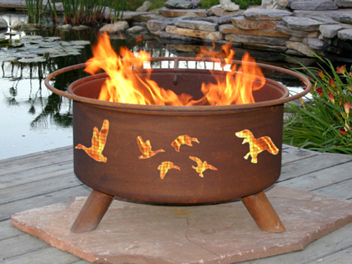 "Patina 'Wild Duck"" Outdoor Fire Pit"