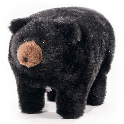 "Friendly Footstools Plush Black Bear ""Midnight"""