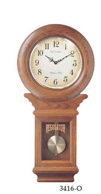 Schoolhouse Chiming Regulator Clock Oak