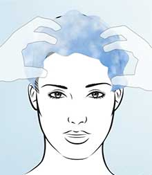 STEP 1: Wash your hair with THYMUSKIN® Shampoo