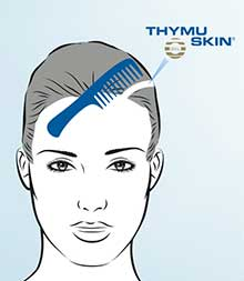 STEP 2: Apply the THYMUSKIN® Serum directly to the scalp