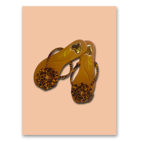 African Print Slide Slippers very comfortable