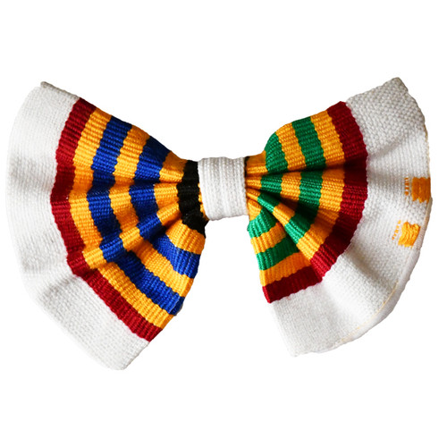 Colorful Kente Bow Tie | African Print Bow Tie | Neck Tie | Pocket Square | Hand Weaved Kente Tie