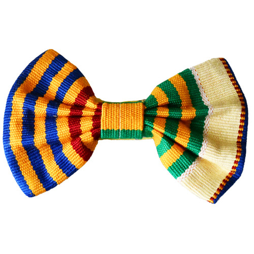 African Print Kente Bow Tie | Pocket Square Handkerchief | Hand Weaved Kente