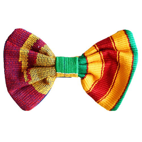 Hand Made Kente Bow tie | African Print Bow Tie with Pocket Square | Hand Weaved African Kente Bow Tie