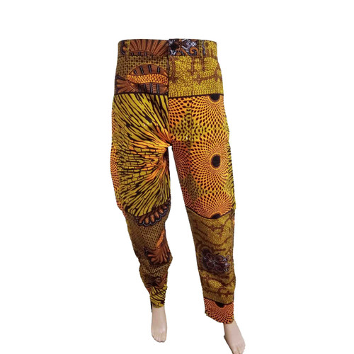 Style:100% Cotton,soft,African printed Feature: Long pants,breathable