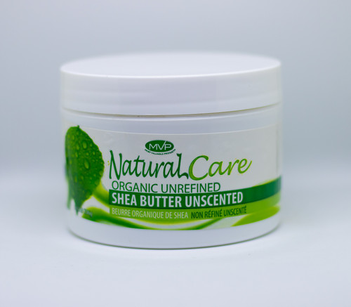 MVP NATURAL CARE ORGANIC UNREFINED SHEA BUTTER UNSCENTED, 8oz