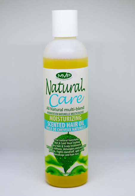 MVP NATURAL CARE ALL NATURAL MULTI-BLEND MOISTURIZING SCENTED HAIR OIL, 8oz