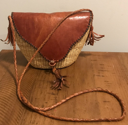 Luxury|African Vintage|Leather Bag