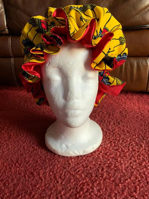 Stylish african print bonnet