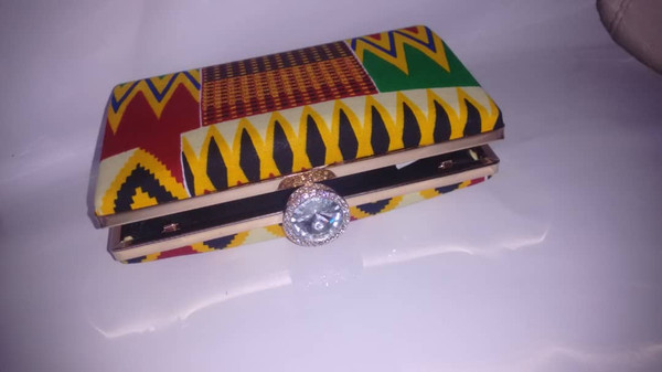 Kente Print Clutch |  Ntoma Clutch Bag | African Print Clutch Bag | Perfect Gift For Any Lady