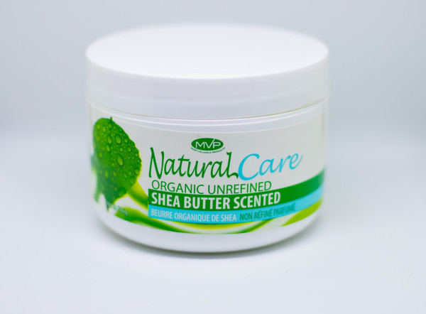 MVP NATURAL CARE ORGANIC UNREFINED SHEA BUTTER SCENTED, 8oz