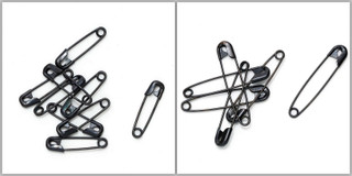Safety Pins - Black - Pack (144)
