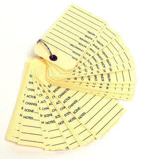 Character Tags for stylists and costumers to use on movie sets.