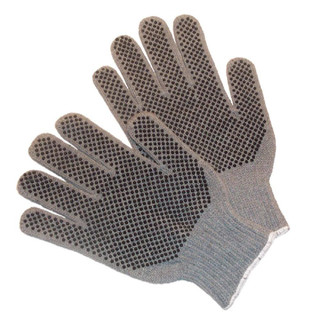 Cotton Work Gloves with PVC Dots