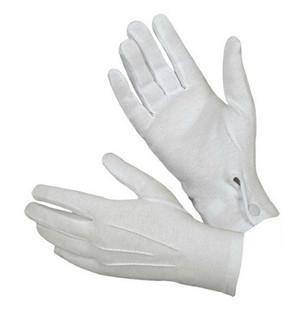 White Cotton Gloves w/ Snap