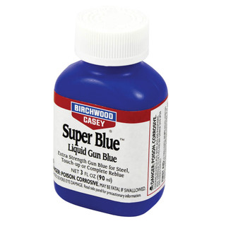Super Gun Blue - Ages Metal, use on buttons to take off shine. Go from new to old quickly with Super Gun Blue Super Strength!!!