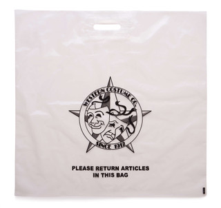 """24"""" Wide by 24"""" Tall Large WCC Logo Bag."""