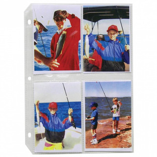 Clear Photo Sheets - 4 Per Page