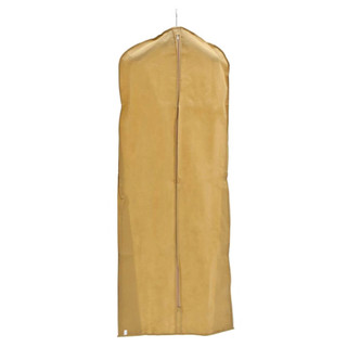 "72"" Tan Plasti-Canvas Garment Bag"
