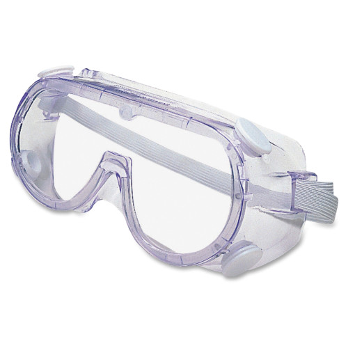 Lightweight, traditionally styled safety goggles offer maximum protection from impact and chemical splash.
