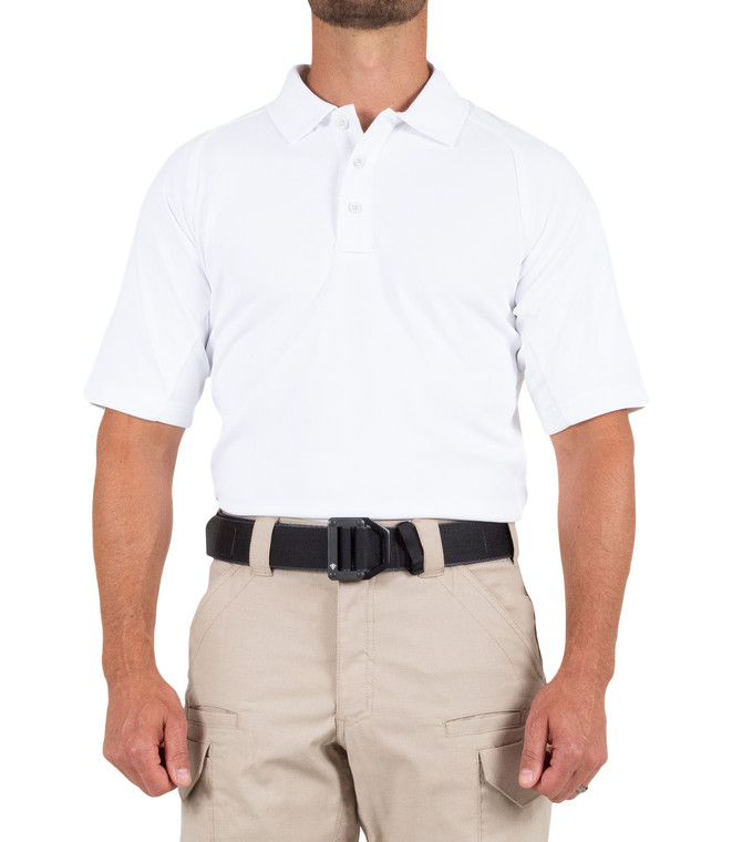 First Tactical Men's Performance Short Sleeve Polo - White (010)