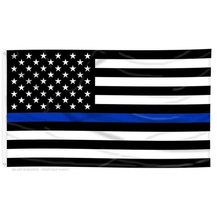 3X5 Thin Blue Line American Flag