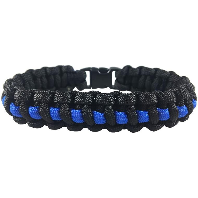 Thin Blue Line Std Paracord Bracelet