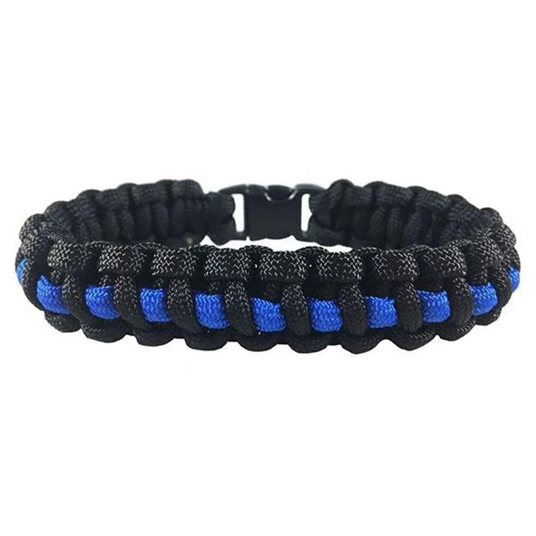 Youth Blue Line Paracord Bracelet
