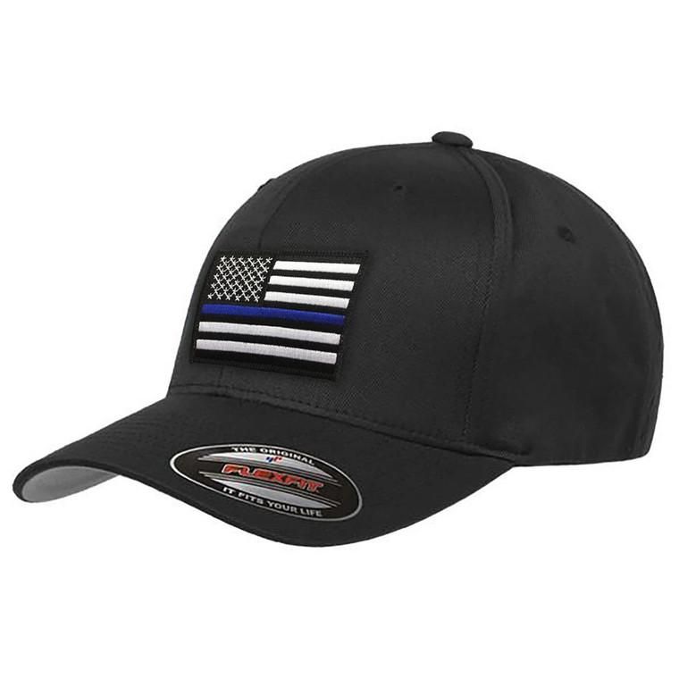 Thin Blue Line Black Hat Flexfit