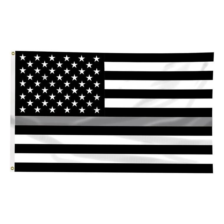 Thin Blue Line 3x5 Silver Line Flag