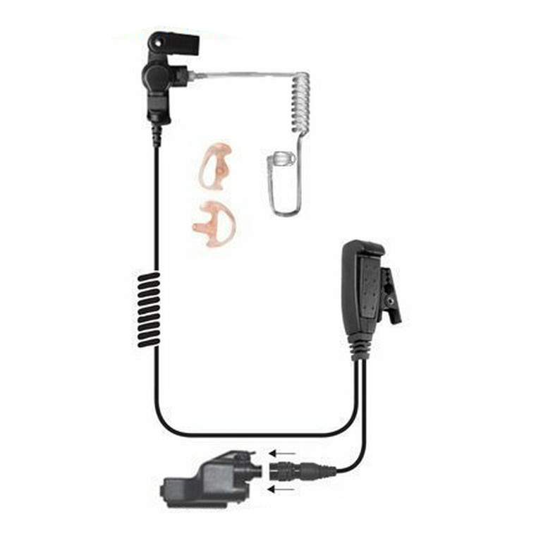 Ear Phone Connection Hawk Lapel Microphone With Qr Adapt -Black