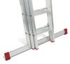 Lyte EN131-2 Non-Professional 3 Section DIY Extension Ladder