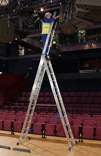 Zarges 3-Part Trade Skymaster Combination Ladder
