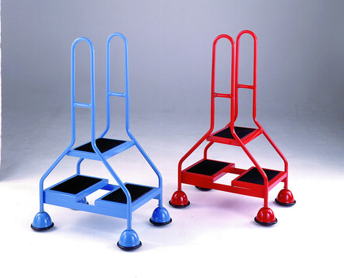 An image of Double Sided Mobile 2 Step - Double Handle, Ribbed Rubber Treads