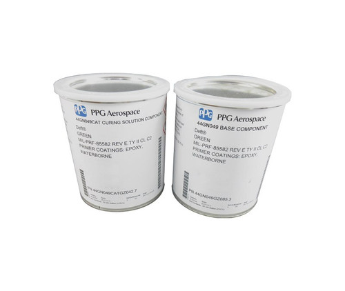PPG Aerospace® Deft® 44GN049 Green MIL-PRF-85582E Type II, Class C2 Chromated Water Reducible Epoxy Primer - Gallon Kit