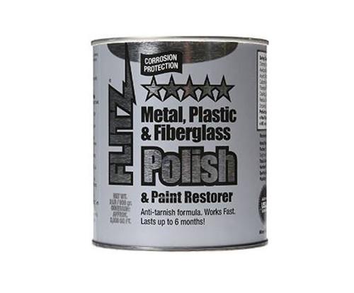 FLITZ CA 03518-6 Paste Metal Polish, Fiberglass & Paint Restorer - 2 lb Can