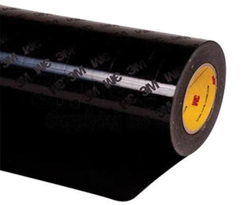 """3M™ 021200-24338 Matte Black 1"""" 8663 HS 18 Mil Skip Slit Liner Polyurethane Protective Tape - 1"""" x 36 Yard Roll"""