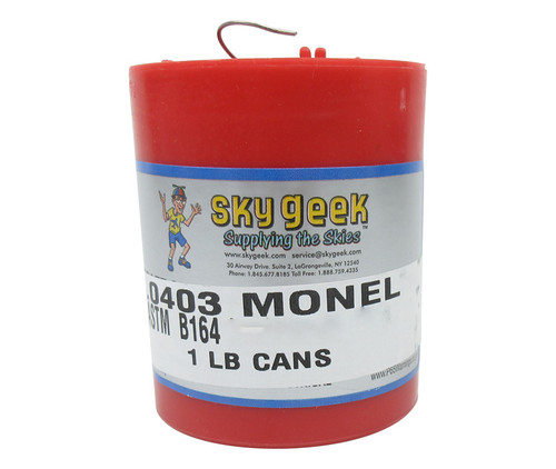 """Military Standard MS20995NC32 Monel 0.032"""" Diameter Safety Wire - 1 lb Roll"""