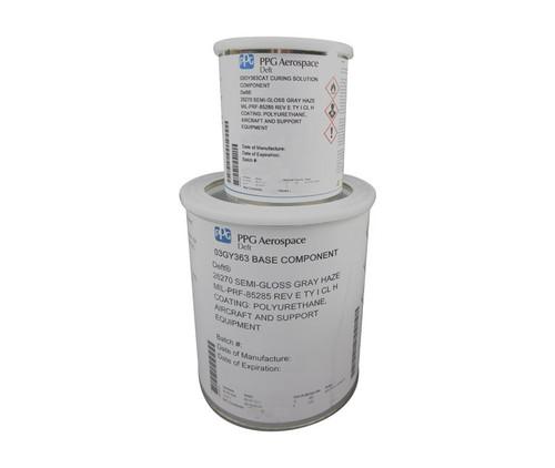 PPG Aerospace® Deft® 03-GY-363 FS#26270 Gray MIL-PRF-85285 Type I, Class H Spec Polyurethane Military Topcoat - Gallon Kit