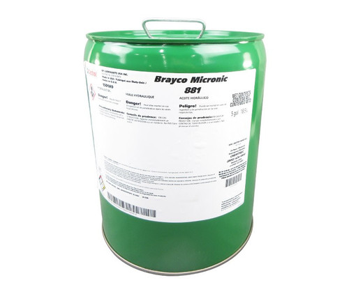 Castrol® Brayco™ Micronic 881 Red MIL-PRF-87257C Spec Full Synthetic ISO-7 Hydraulic Fluid - 5 Gallon Steel Pail