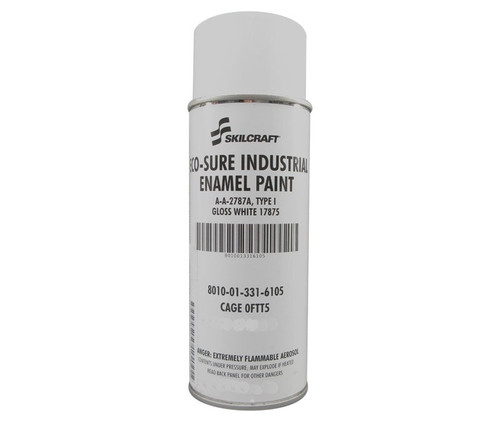 Skilcraft® 0674-170 ECO SURE® FS 17875 Gloss White A-A-2787A Type I Spec Industrial Enamel Paint - 11 oz Aerosol Can