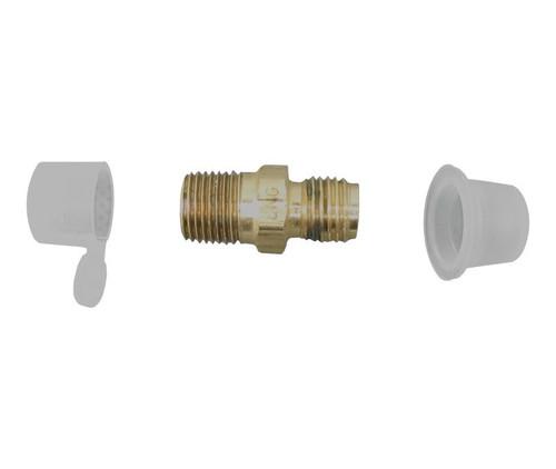 Aeronautical Standard AN780-3 Steel Adapter, Straight, Pipe to Tube