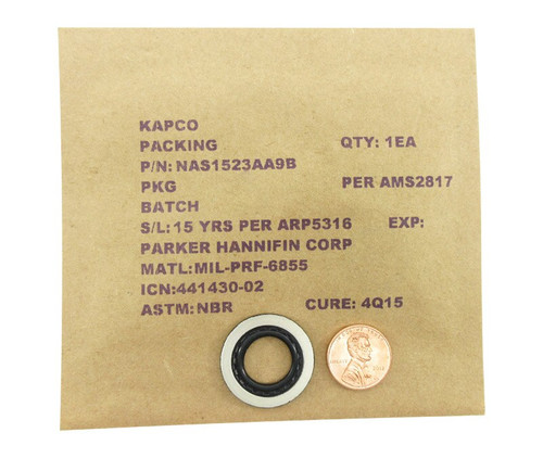 National Aerospace Standard NAS1523AA9B Packing with Retainer