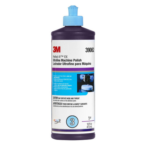 3m™ 051131-39062 Perfect-It™ Ultrafine EX 39062 White Ultrafine Machine Polish - 473 mL (16 oz) Squeeze Bottle