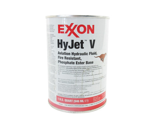 Exxon Mobil HyJet V Violet BMS 3-11P Type V, Grade A & C Spec Fire-Resistant Aviation Hydraulic Fluid - Quart Can
