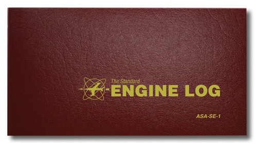 Aviation Supplies & Academics ASA-SE-1 Red The Standard™ Softcover Engine Log Book