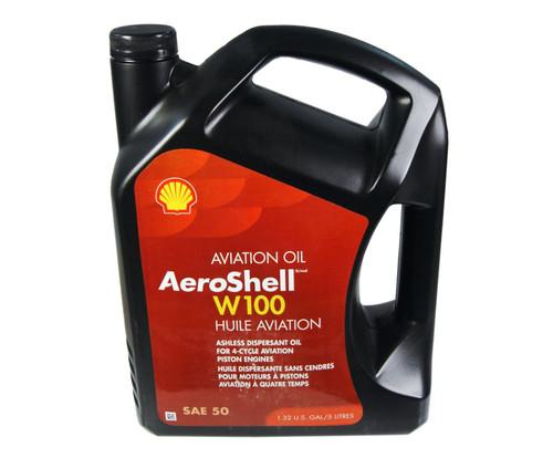AeroShell™ Oil W100 SAE Grade 50 Ashless Dispersant Aircraft Piston Engine Oil - 1.32 (5 Liter) Jug