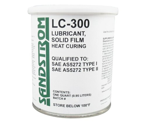 Sandstrom LC-300 Flat Dark Gray AS5272 Type I & II Spec Heat Cure Solid Film Lubricant - Quart Can