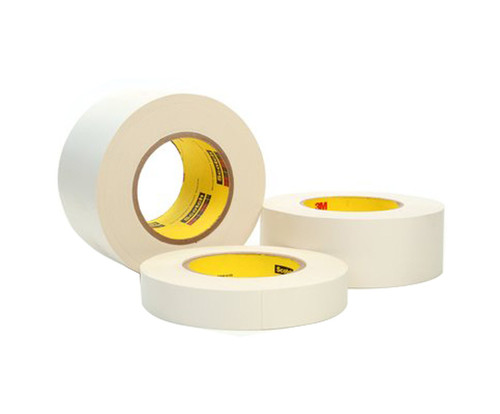 """3M™ 021200-03021 Scotch® 365 White 8.3 Mil Thermosetable Glass Cloth Tape - 3"""" x 60 Yard Roll"""